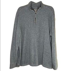 Timberland Gray 3/4 Zip Sweatshirt Regular Fit XL